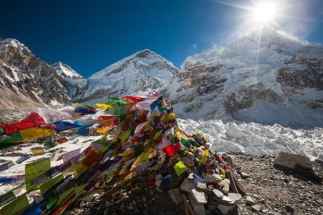 Tibet Photo Tour - 18 - Pray flags in Everest base camp