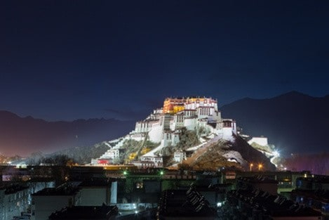 Tibet Photo Tour - 16 - potala palace at night -