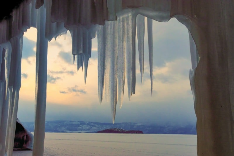 Many Icicle at the Lake Baikal, photography vacations, Tim vollmer Photography