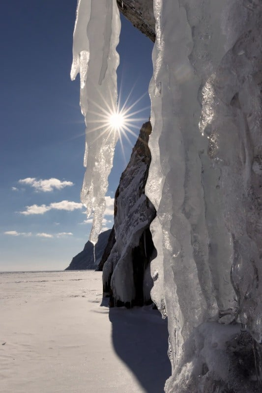 Icicle at the Lake Baikal, photography vacations, Tim vollmer Photography