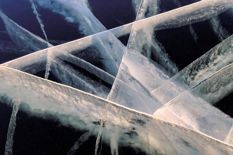 Details of cracks in the Ice, photography vacations, Tim vollmer Photography